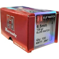 Hornady 6.5mm .264 130 GR ELD Match 100 Pack