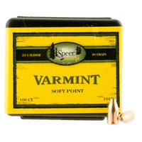 Speer .224 40 gr Varmint Soft Point 100 Pack